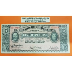 MEXICO 5 PESOS 1914 ESTADO DE CHIHUAHUA Serie 2173918 Pick S.532 BILLETE MBC+ Revolución Mexicana ZAPATA