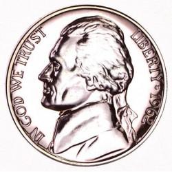 ESTADOS UNIDOS 5 CENTAVOS 1980 S JEFFERSON KM.A192 MONEDA DE NICKEL PROOF USA 5 Cent