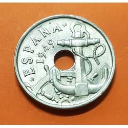 @PUNTITO@ ESPAÑA 50 CENTIMOS 1949 * 19 53 ESTADO ESPAÑOL FRANCO FLECHAS MONEDA DE NICKEL SC