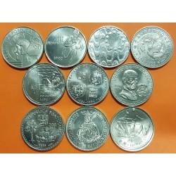 10 monedas x PORTUGAL 200 ESCUDOS 1991+1992+1993+1994+1995+1996 CARABELAS y DESCUBRIMIENTOS NICKEL SC/SC-