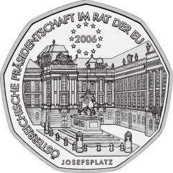 AUSTRIA 5 EUROS 2006 PRESIDENCIA U.E. PLATA SIN CIRCULAR SILVER UNC