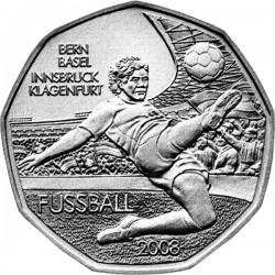 AUSTRIA 5 EUROS 2008 EUROCOPA DE FUTBOL BERN BASEL INNSBRUCK MONEDA DE PLATA SC Österreich euro silver coin