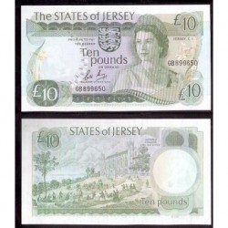 JERSEY £10 LIBRAS 1976 1988 SC Pick 13B POUNDS COLEGIO VICTORIA REINA ISABEL SIN CIRCULAR
