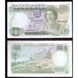 JERSEY £10 POUNDS 1976 1988 UNC+ Pick 13B