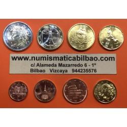 ITALIA MONEDAS EURO 2014 SC : 1+2+5+10+20+50 Centimos + 1 EURO + 2 EUROS 2014 SERIE TIRA Italy Italien