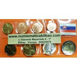 ESLOVAQUIA MONEDAS EURO 2015 SC 1+2+5+10+20+50 Centimos + 1 EURO + 2 EUROS 2015 SERIE TIRA Slovakia