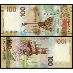 RUSIA 100 RUBLOS 2015 REPUBLICA DE CRIMEA y SEBASTOPOL Pick 275 BILLETE SC Russia 100 Roubles UNC BANKNOTE