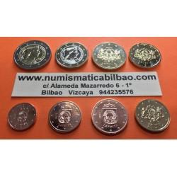 LETONIA MONEDAS EURO 2015 SC : 1+2+5+10+20+50 Centimos + 1 EURO + 2 EUROS 2015 SERIE TIRA Latvia Lettland Latvijas