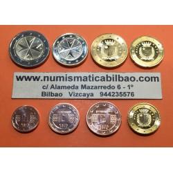 MALTA MONEDAS EURO 2015 SC : 1+2+5+10+20+50 Centimos + 1 EURO + 2 EUROS 2015 SERIE TIRA @EMISION 20000 uds@