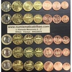 @OFERTA@ 1+2+5+10+20+50 Centimos + 1 EURO 2015 ALEMANIA MONEDAS EURO 2012 SIN CIRCULAR Letras A+D+F+G+J 35 MONEDAS