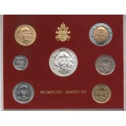 . 1+2+5+10+20+50+100+500 LIRAS (Plata) 1967 VATICANO PABLO VI