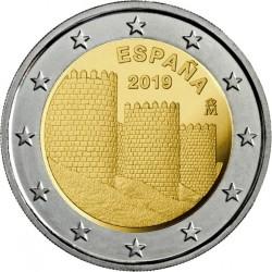 ESPAÑA 2 EUROS 2019 MURALLAS DE AVILA SC MONEDA CONMEMORATIVA Spain Espagne
