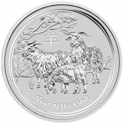 AUSTRALIA 1 DOLAR 2015 AÑO DE LA CABRA 2ª SERIE LUNAR MONEDA DE PLATA $1 dollar silver OZ ONZA OUNCE YEAR OF THE SHEEP