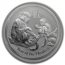 AUSTRALIA 1 DOLAR 2016 AÑO DEL MONO 2ª SERIE LUNAR MONEDA DE PLATA $1 dollar silver OZ ONZA OUNCE YEAR OF THE MONKEY