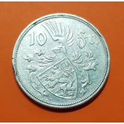 LUXEMBURGO 10 FRANCOS 1929 DUQUESA CHARLOTTE KM.39 MONEDA DE PLATA MBC @MUESCAS@ Luxembourg 10 francs silver coin