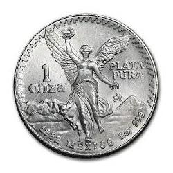 MEXICO 1 ONZA 1982 ANGEL LIBERTAD MONEDA DE PLATA PURA 999 SC Mejico silver coin OZ OUNCE @1º AÑO DE EMISION@
