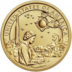 ESTADOS UNIDOS 1 DOLAR 2019 D INDIA SACAGAWEA, ASTRONAUTA y COHETE SC MONEDA DE LATON USA 1 Dollar coin