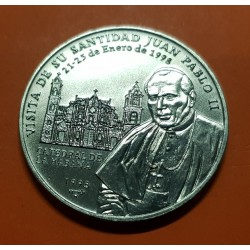 @OFERTA@ 1 PESO 1998 VISITA DEL PAPA JUAN PABLO II A LA HABANA KM.732 NICKEL SC