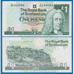 ESCOCIA 1 LIBRA 2001 THE ROYAL BANK OF SCOTLAND Lord Lay Pick 351E BILLETE SC 1 Pound UNC BANKNOTE