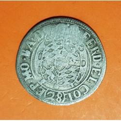 ALEMANIA 28 STUBER 1615 1637 German States BAYERN MUNICH ESCUDO REY FERNANDO @MUY RARA@ MONEDA MEDIEVAL DE PLATA Germany
