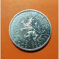 ALEMANIA 5 MARCOS 1986 D UNIVERSIDAD HEIDELBERG y LEON KM.164 MONEDA DE NICKEL SC marquitas Germany BRD 5 Marks