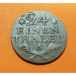ALEMANIA 24 EINEN THALER 1782 A Rey FRIEDRICH II German States PRUSIA KM.296 MONEDA DE COBRE MBC