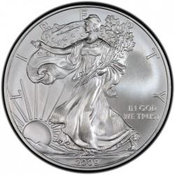 ESTADOS UNIDOS 1 DOLAR 2009 EAGLE LIBERTY MONEDA DE PLATA PURA SC $1 Dollar Coin USA UNITED STATES ONZA OZ OUNCE