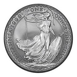 INGLATERRA 2 LIBRAS 1998 BRITANNIA MONEDA DE PLATA SC UNITED KINGDOM SILVER £2 POUNDS 1 ONZA OZ OUNCE (1ª FECHA DE EMISION)
