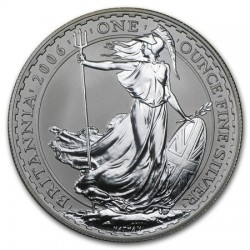 INGLATERRA 2 LIBRAS 2006 BRITANNIA MONEDA DE PLATA SC UNITED KINGDOM SILVER £2 POUNDS 1 ONZA OZ