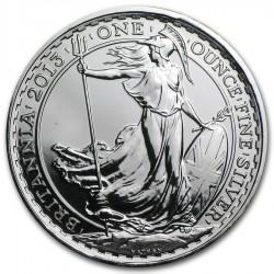INGLATERRA 2 LIBRAS 2013 BRITANNIA MONEDA DE PLATA SC UNITED KINGDOM SILVER £2 POUNDS 1 ONZA OZ