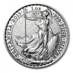 INGLATERRA 2 LIBRAS 2015 BRITANNIA MONEDA DE PLATA SC UNITED KINGDOM SILVER £2 POUNDS 1 ONZA OZ OUNCE