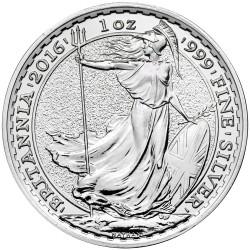 INGLATERRA 2 LIBRAS 2016 BRITANNIA MONEDA DE PLATA SC UNITED KINGDOM SILVER £2 POUNDS 1 ONZA OZ