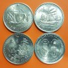 PORTUGAL 200 ESCUDOS 1996 @LOTE DE 4 MONEDAS@ MACAO + TAIWAN + CHINA + SIAM NICKEL SC-
