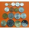 TURQUIA @TIRA DE 17 MONEDAS@ 1+5+50 KURUS + 1+2,50+5+10+25+500+1000+5000 LIRAS 1973/1992 NICKEL, EBC/SC Turkey coin set