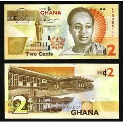GHANA 2 CEDIS 2015 PRESA EDIFICIOS y DR. KWAME NKRUMAH Pick 37A BILLETE SC Africa UNC BANKNOTE