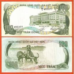 VIETNAM 100 DONG 1972 CAMPESINO CON BUEYES Epoca de HO CHI MIN Pick 31 BILLETE SC UNC BANKNOTE