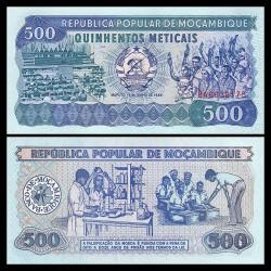 MOZAMBIQUE 500 ESCUDOS 1989 CIENTIFICOS EN LABORATORIO Pick 131 BILLETE SC Portugal UNC BANKNOTE