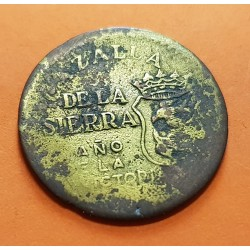 CAZALLA DE LA SIERRA 10 CENTIMOS 1937 AÑO DE LA VICTORIA LATON @ESCASA@ ESPAÑA MONEDA LOCAL DE LA GUERRA CIVIL