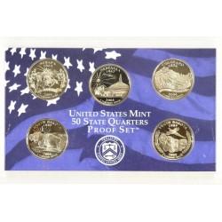 5 monedas x ESTADOS UNIDOS 1/4 DOLAR 2006 NICKEL PROOF 25 Centavos 2006 ORIGINAL MINT SET NO CERTIFICADO