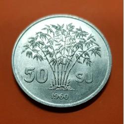 VIETNAM 50 XU 1960 PRESIDENTE República Socialista KM.4 MONEDA DE ALUMINIO SC- State of South Vietnam del Sur