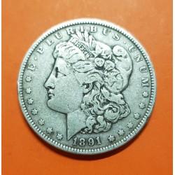 ESTADOS UNIDOS 1 DOLAR 1891 O MORGAN KM.110 MONEDA DE PLATA MBC USA Silver $1 Dollar Coin