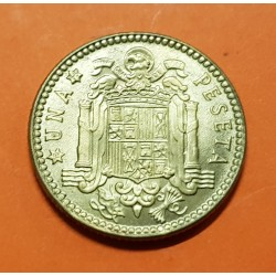 ESPAÑA 1 PESETA 1963 * 19 66 FRANCISCO FRANCO y AGUILA KM.775 MONEDA DE LATON SC Estado Español 2