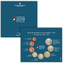 ITALIA CARTERA OFICIAL 2019 UNC 1+2+5+10+20+50 Centimos + 1 EURO + 2 EUROS 2019 BU SET KMS Collezione