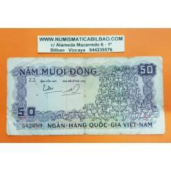 VIETNAM 50 DONG 1966 ANAGRAMAS Régimen COMUNISTA Pick 17 BILLETE MUY CIRCULADO PVP NUEVO 33€ South Vietnam