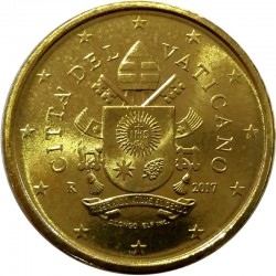 . 2015 VATICANO 50 CENTIMOS PAPA FRANCISCO MONEDA EURO
