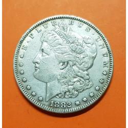 ESTADOS UNIDOS 1 DOLAR 1882 MORGAN KM.110 MONEDA DE PLATA MBC+ USA Silver $1 Dollar Coin 1