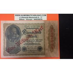 ALEMANIA 1000.000 MARCOS 15 DICIEMBRE 1922 COLOR NARANJA República del WEIMAR Berlín Pick 81 UNC Germany Reichsbanknote