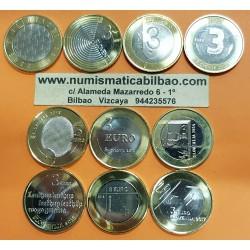 10 monedas x ESLOVENIA 3 EUROS 2008+2009+2010+2011+2012+2013+2014+2015+2016+2017 SC BIMETALICAS Slovenia
