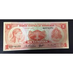 HONDURAS 1 LEMPIRA 1974 INDIO y RUINAS DE COPAN JUEGO DE PELOTA Pick 58 BILLETE MBC+ @RARO@ PVP NUEVO 55€