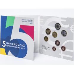LETONIA CARTERA OFICIAL EUROS 2019 SC 1+2+5+10+20+50 Centimos + 1 EURO + 2 EUROS 2019 EUROSET KMS Latvian coinage Latvijas